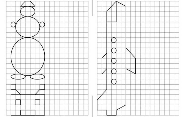 Красивые и простые рисунки по клеточкам в тетради для начинающих graficheskie risunki po kletochkam 16