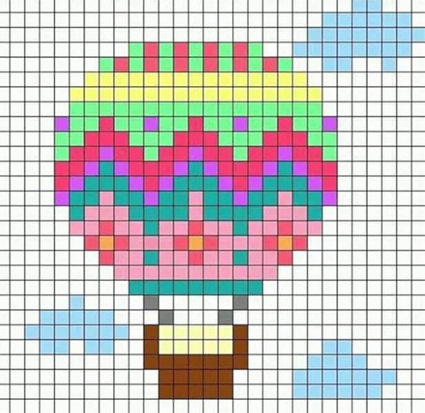 Красивые и простые рисунки по клеточкам в тетради для начинающих graficheskie risunki po kletochkam 170