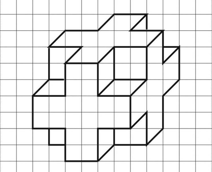 Красивые и простые рисунки по клеточкам в тетради для начинающих graficheskie risunki po kletochkam 175