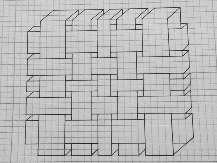 Красивые и простые рисунки по клеточкам в тетради для начинающих graficheskie risunki po kletochkam 177