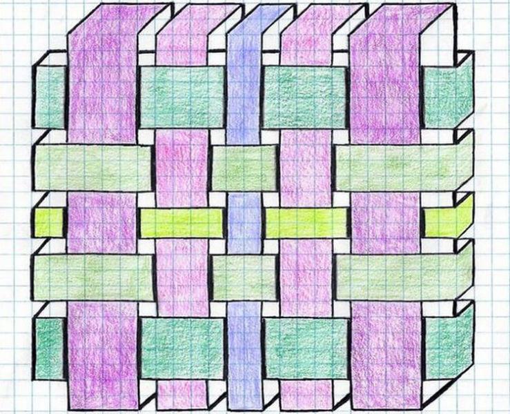 Красивые и простые рисунки по клеточкам в тетради для начинающих graficheskie risunki po kletochkam 179