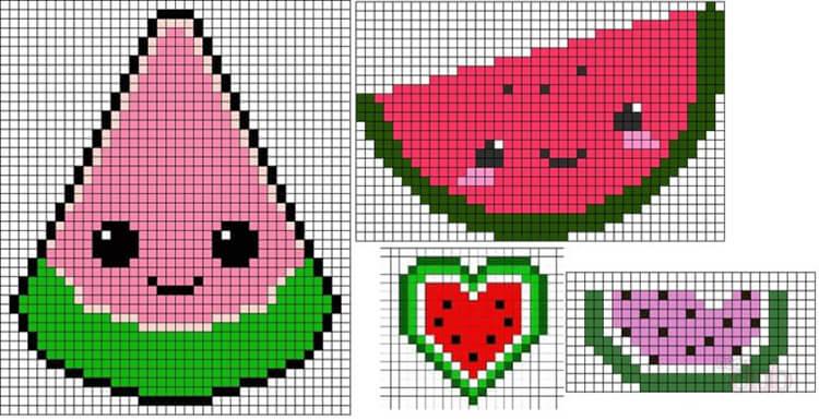 Красивые и простые рисунки по клеточкам в тетради для начинающих graficheskie risunki po kletochkam 24