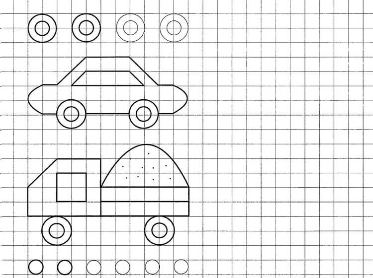 Красивые и простые рисунки по клеточкам в тетради для начинающих graficheskie risunki po kletochkam 30