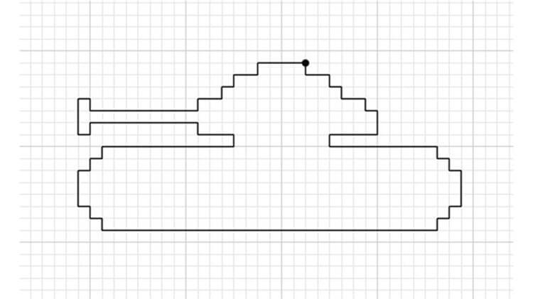 Красивые и простые рисунки по клеточкам в тетради для начинающих graficheskie risunki po kletochkam 42