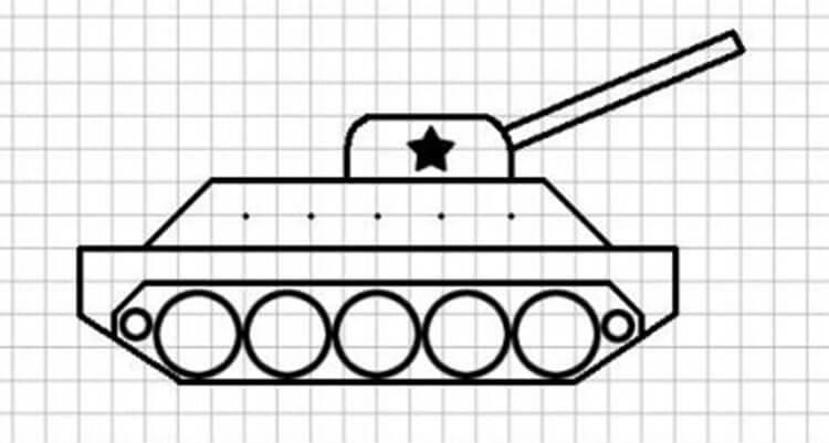 Красивые и простые рисунки по клеточкам в тетради для начинающих graficheskie risunki po kletochkam 43