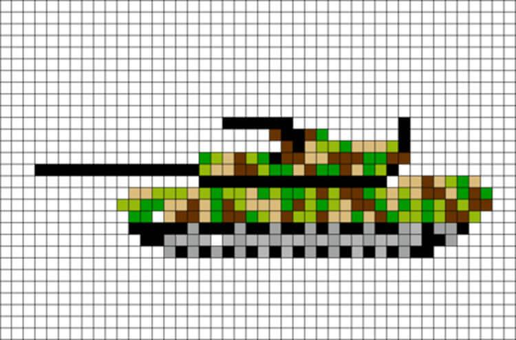Красивые и простые рисунки по клеточкам в тетради для начинающих graficheskie risunki po kletochkam 45