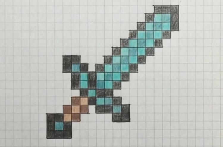 Красивые и простые рисунки по клеточкам в тетради для начинающих graficheskie risunki po kletochkam 52