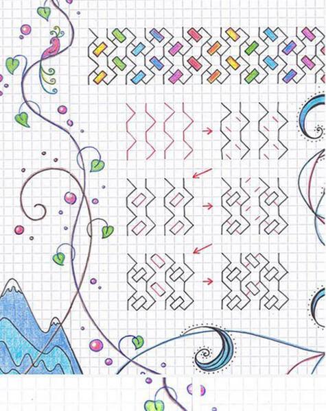 Красивые и простые рисунки по клеточкам в тетради для начинающих graficheskie risunki po kletochkam 58