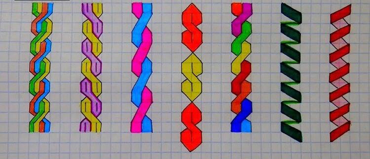 Красивые и простые рисунки по клеточкам в тетради для начинающих graficheskie risunki po kletochkam 60