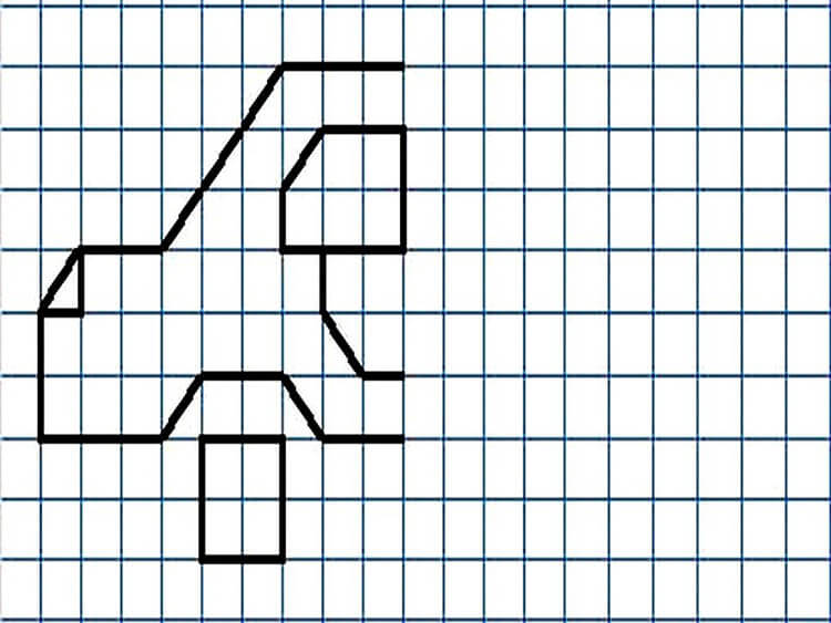 Красивые и простые рисунки по клеточкам в тетради для начинающих graficheskie risunki po kletochkam 9