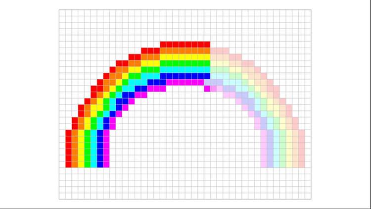 Красивые и простые рисунки по клеточкам в тетради для начинающих graficheskie risunki po kletochkam 96