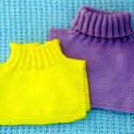 Как связать манишку спицами, которая защитит вас от холода