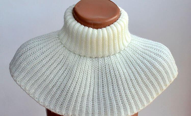 Как связать манишку спицами, которая защитит вас от холода kak svyazat spicami manishku 14