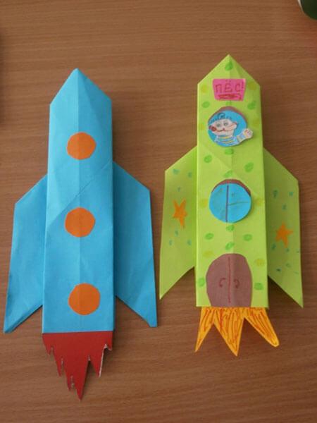 Интересные поделки для школы и садика на день Космонавтики podelki svoimi rukami ko dnyu kosmonavtiki 106
