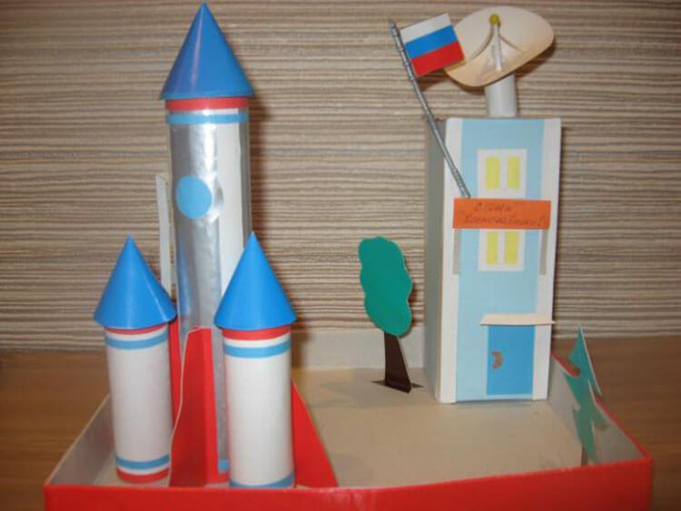 Интересные поделки для школы и садика на день Космонавтики podelki svoimi rukami ko dnyu kosmonavtiki 114