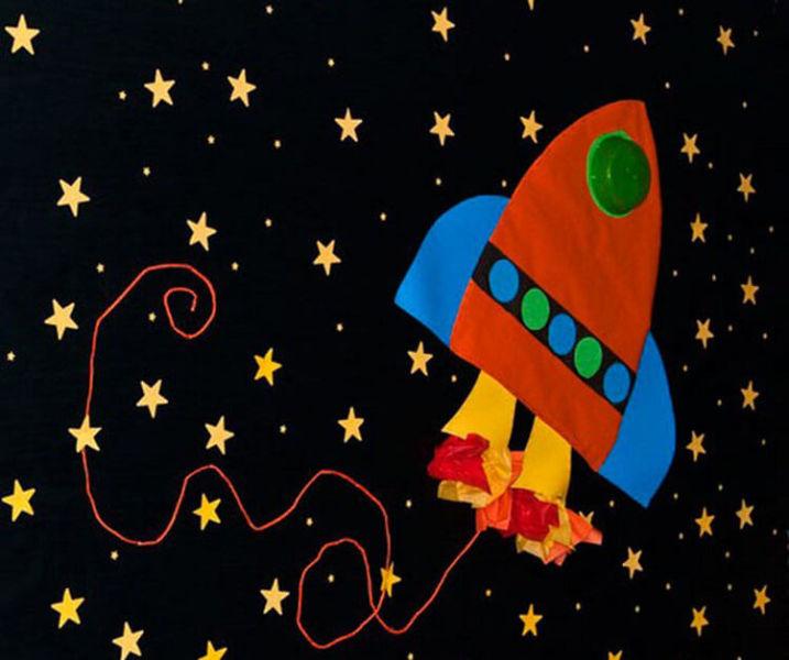 Интересные поделки для школы и садика на день Космонавтики podelki svoimi rukami ko dnyu kosmonavtiki 32