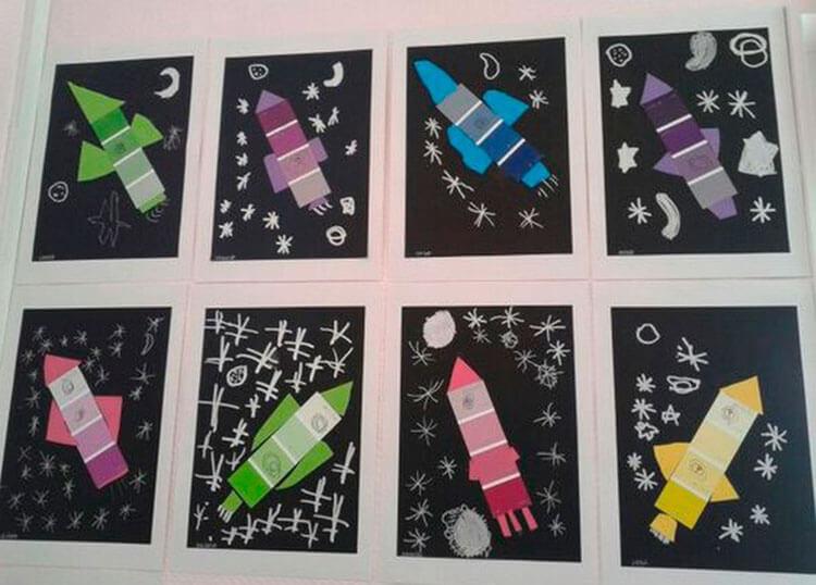 Интересные поделки для школы и садика на день Космонавтики podelki svoimi rukami ko dnyu kosmonavtiki 33