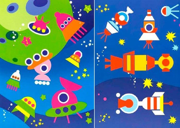Интересные поделки для школы и садика на день Космонавтики podelki svoimi rukami ko dnyu kosmonavtiki 43