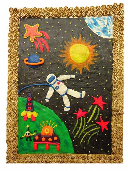 Интересные поделки для школы и садика на день Космонавтики podelki svoimi rukami ko dnyu kosmonavtiki 53