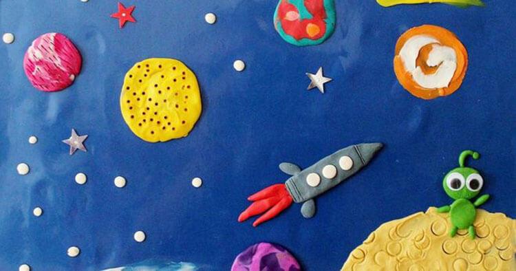 Интересные поделки для школы и садика на день Космонавтики podelki svoimi rukami ko dnyu kosmonavtiki 54