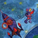 Как нарисовать рисунок на день космонавтики для сада и школы