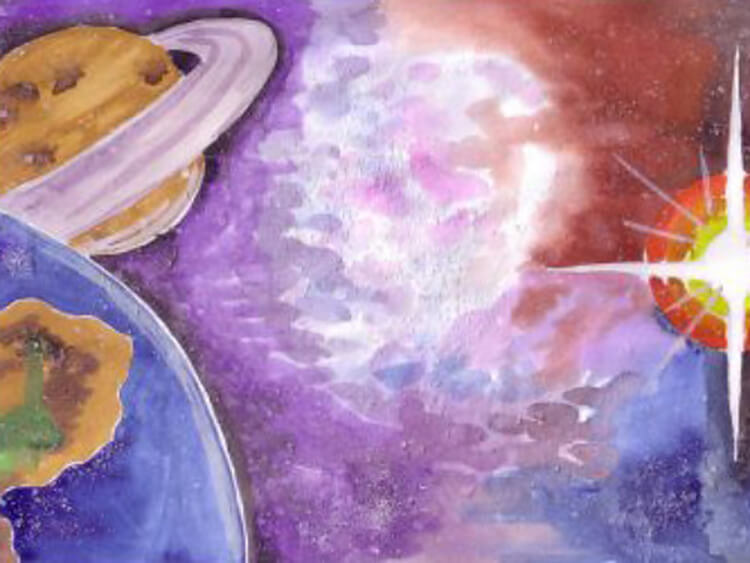 Как нарисовать рисунок на день космонавтики для сада и школы risunok na den kosmonavtiki dlya detej 103