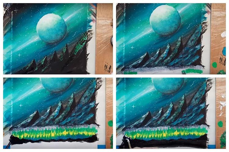 Как нарисовать рисунок на день космонавтики для сада и школы risunok na den kosmonavtiki dlya detej 108