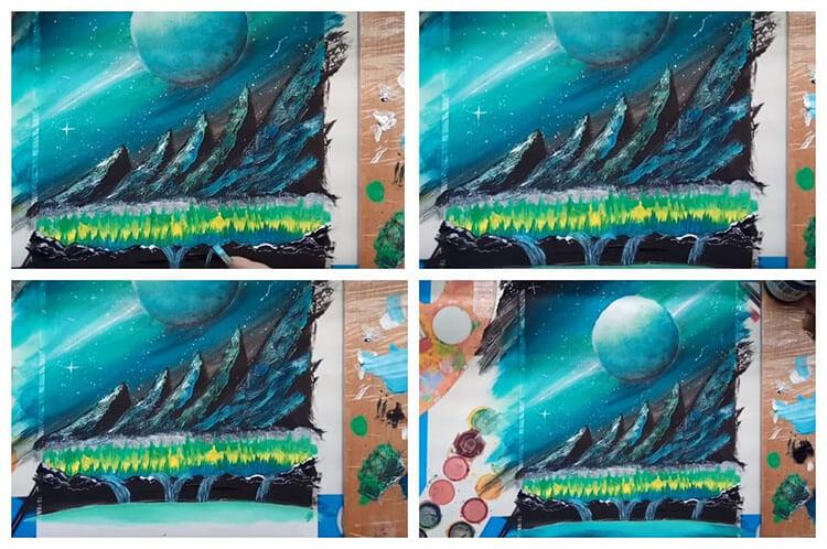 Как нарисовать рисунок на день космонавтики для сада и школы risunok na den kosmonavtiki dlya detej 109