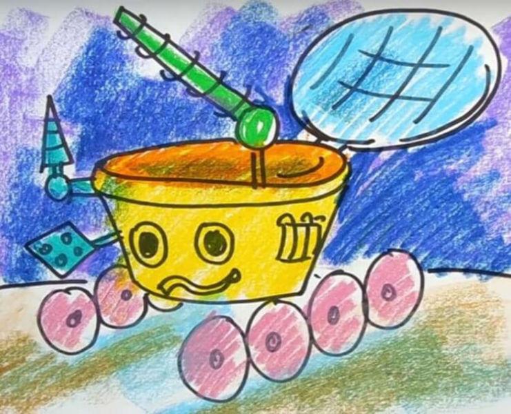 Как нарисовать рисунок на день космонавтики для сада и школы risunok na den kosmonavtiki dlya detej 11