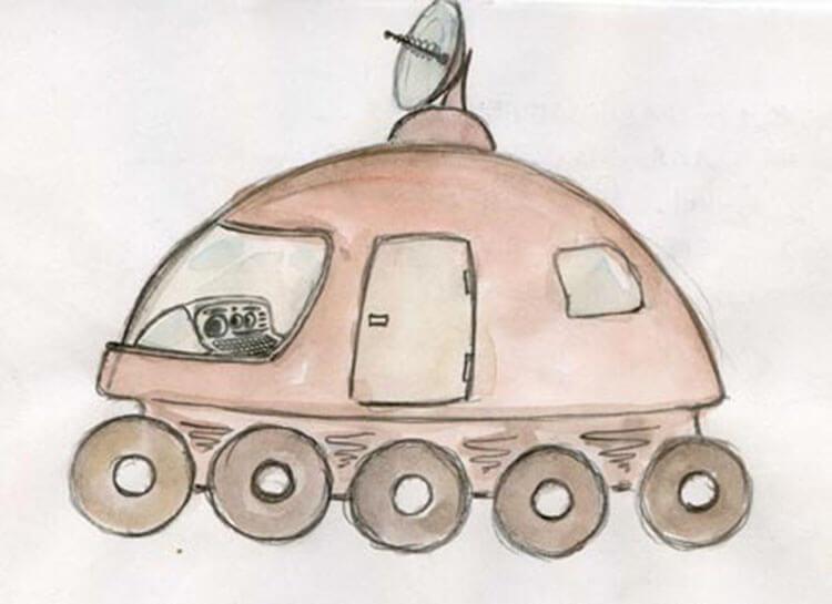 Как нарисовать рисунок на день космонавтики для сада и школы risunok na den kosmonavtiki dlya detej 13