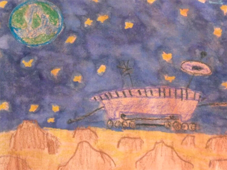 Как нарисовать рисунок на день космонавтики для сада и школы risunok na den kosmonavtiki dlya detej 14