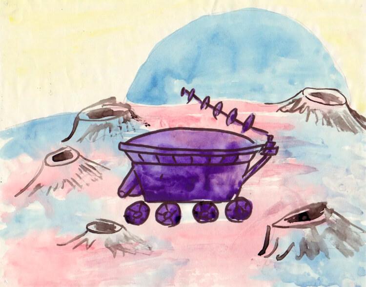 Как нарисовать рисунок на день космонавтики для сада и школы risunok na den kosmonavtiki dlya detej 15