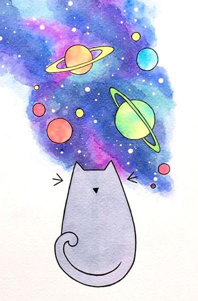 Как нарисовать рисунок на день космонавтики для сада и школы risunok na den kosmonavtiki dlya detej 20