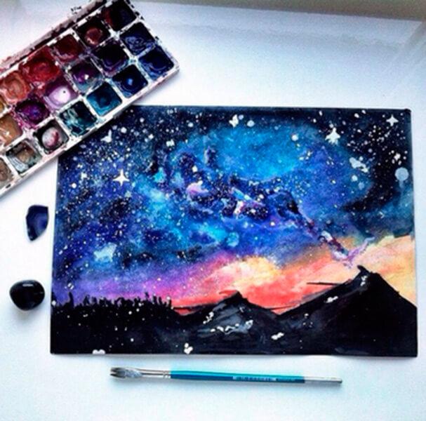 Как нарисовать рисунок на день космонавтики для сада и школы risunok na den kosmonavtiki dlya detej 33