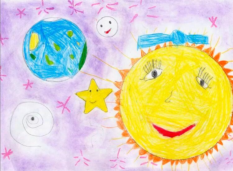 Как нарисовать рисунок на день космонавтики для сада и школы risunok na den kosmonavtiki dlya detej 45