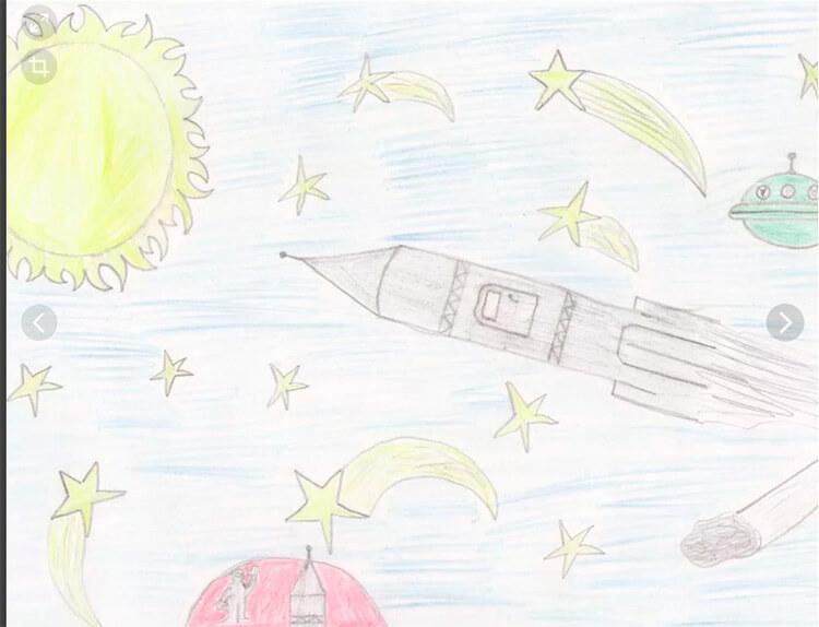 Как нарисовать рисунок на день космонавтики для сада и школы risunok na den kosmonavtiki dlya detej 47