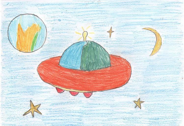 Как нарисовать рисунок на день космонавтики для сада и школы risunok na den kosmonavtiki dlya detej 48