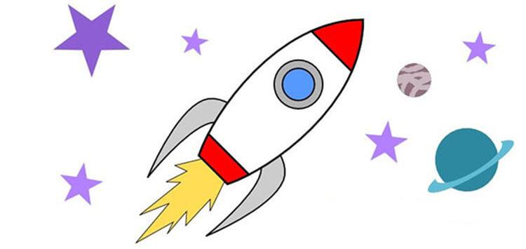 Как нарисовать рисунок на день космонавтики для сада и школы risunok na den kosmonavtiki dlya detej 49