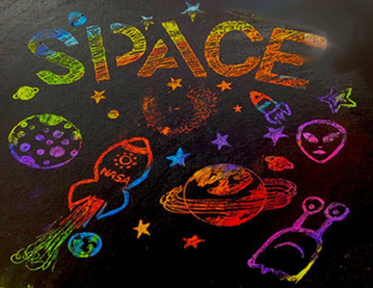 Как нарисовать рисунок на день космонавтики для сада и школы risunok na den kosmonavtiki dlya detej 6