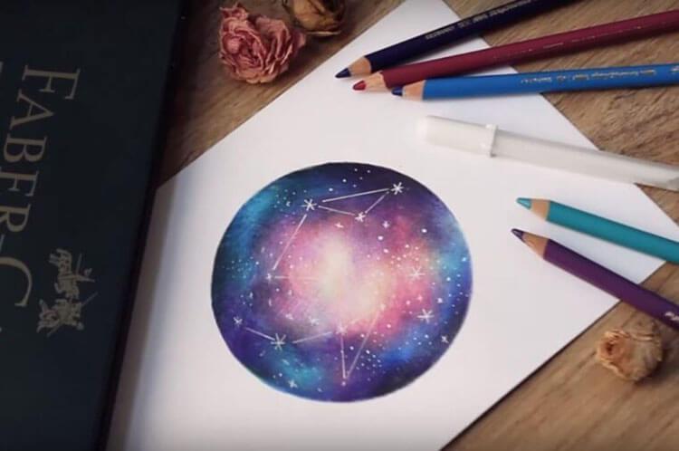 Как нарисовать рисунок на день космонавтики для сада и школы risunok na den kosmonavtiki dlya detej 68