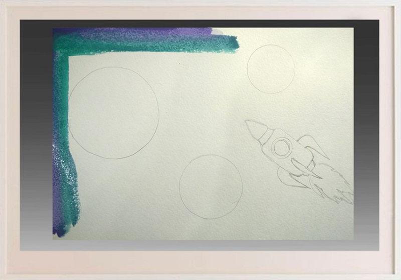Как нарисовать рисунок на день космонавтики для сада и школы risunok na den kosmonavtiki dlya detej 83