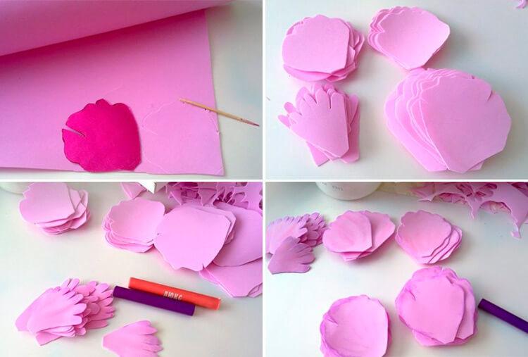Пион своими руками: как сделать цветок различными способами 104 107