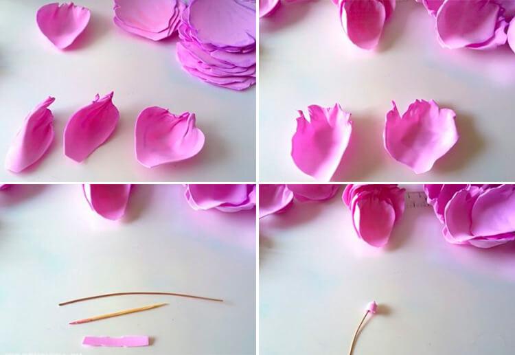 Пион своими руками: как сделать цветок различными способами 108 111