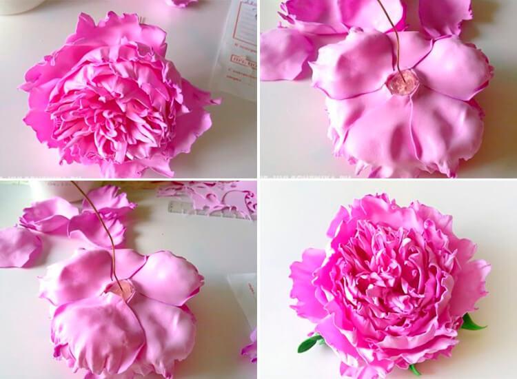 Пион своими руками: как сделать цветок различными способами 116 119 1