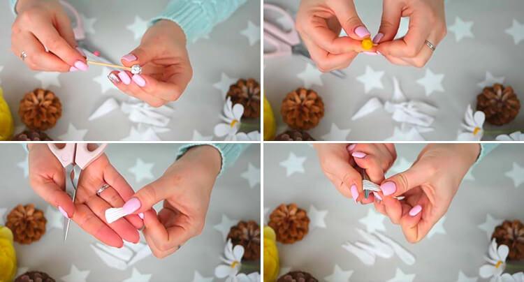Делаем цветок ромашка своими руками из различных материалов 38 41 1