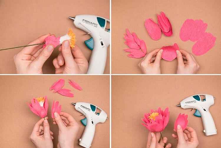 Пион своими руками: как сделать цветок различными способами 43 46