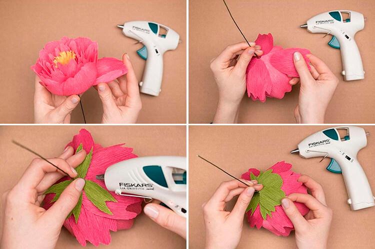 Пион своими руками: как сделать цветок различными способами 47 50 1