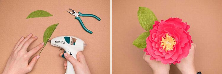 Пион своими руками: как сделать цветок различными способами 51 52 2