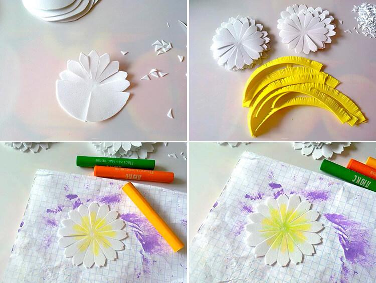 Делаем цветок ромашка своими руками из различных материалов 83 86