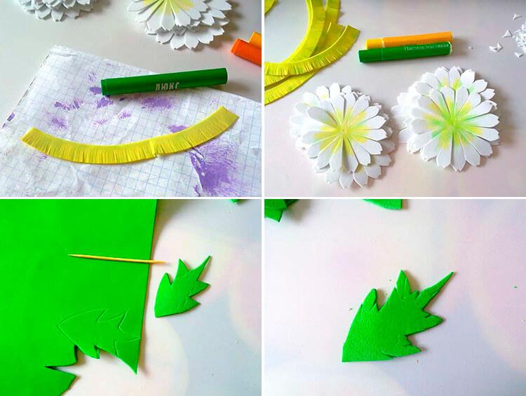 Делаем цветок ромашка своими руками из различных материалов 87 90